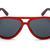 Wood Aviators - Red Frame Black Lens