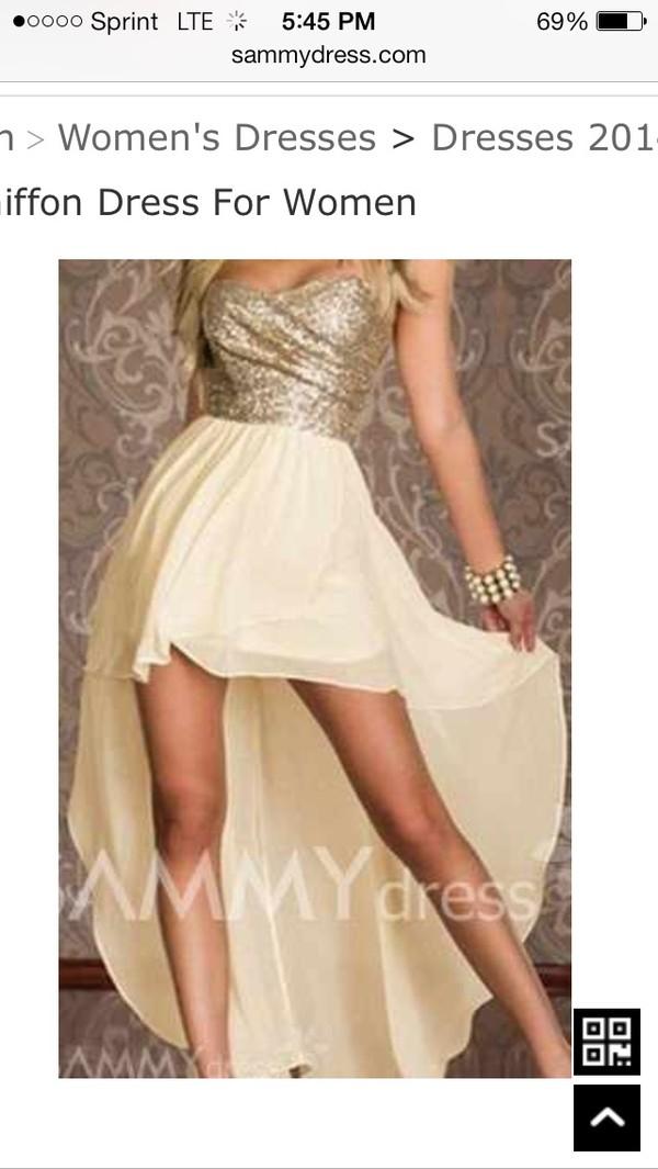 dress shimmering gold strapless dress