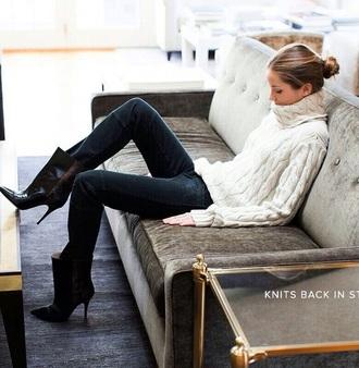 sweater pinterest style knitted sweater fall outfits fashion winter outfits winter sweater classy turtleneck turtleneck sweater