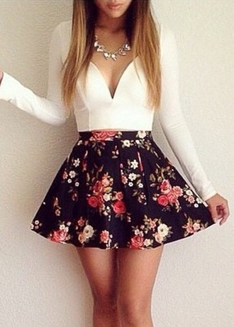 dress floral cute find skirt coral fashion coral skater dress