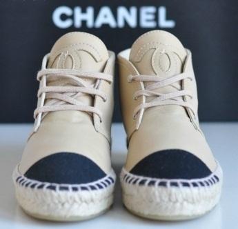 Chanel flat sneakers