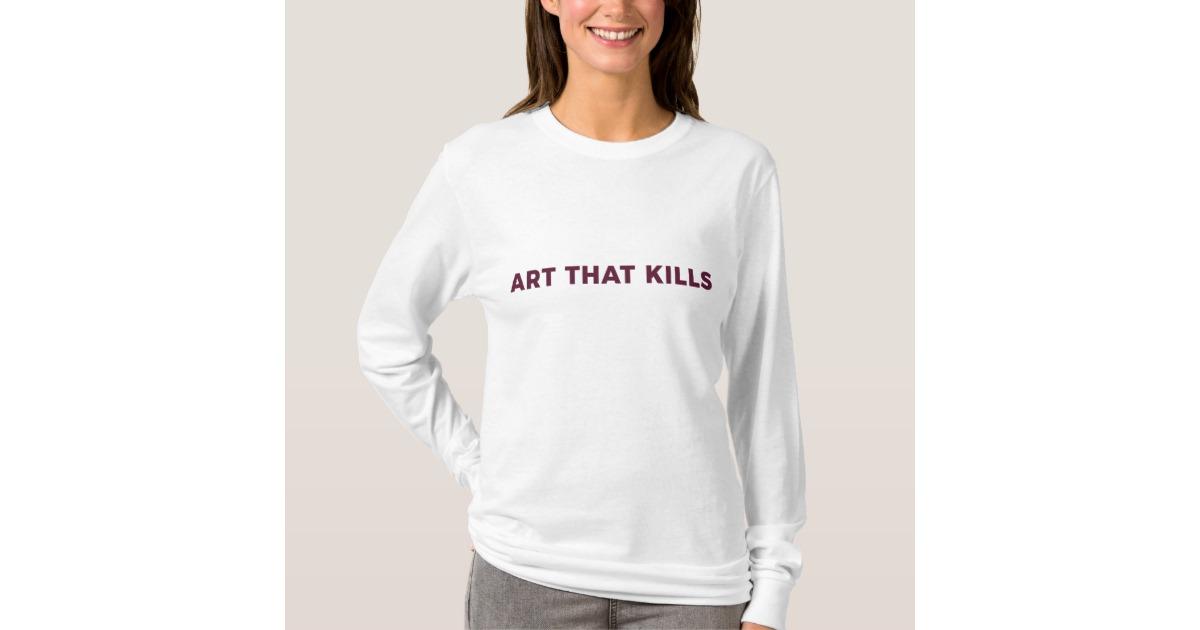 Kendall Jenner Art That Kills Graphic Hoodie | Zazzle.com