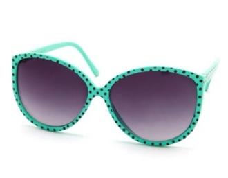 sunglasses mint dot blue baby blue retro polka dots retro sunglasses