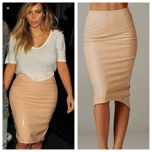 Designer pencil skirt