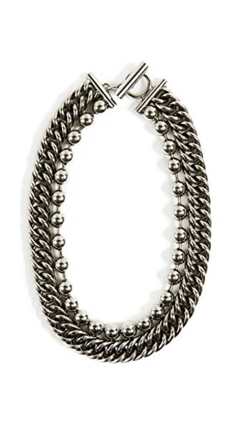 Alexander Wang chain necklace ball necklace silver jewels