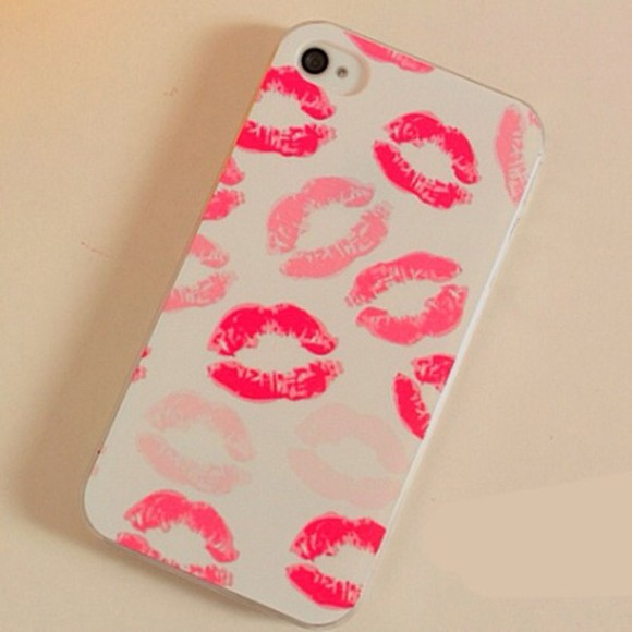 iphone cover iphone phone pink bag iphone5 iphonecases cover cell phone brand kiss red sexy