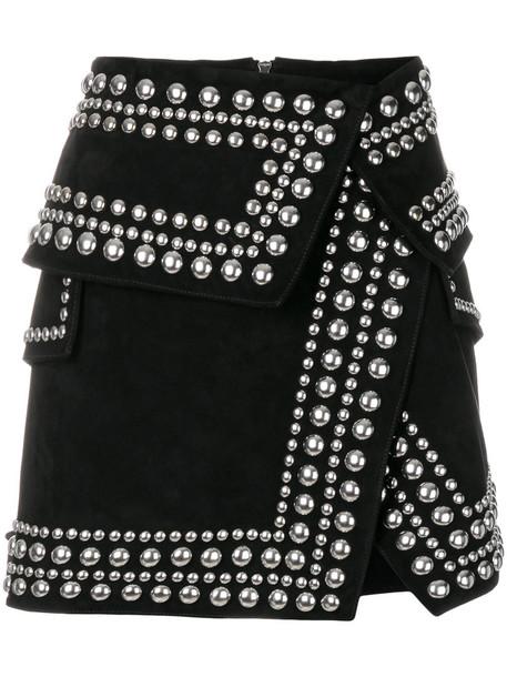 Balmain skirt mini skirt mini studded women cotton black