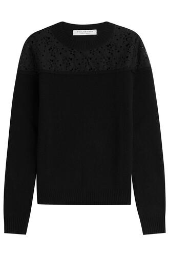 top crochet top lace wool crochet black