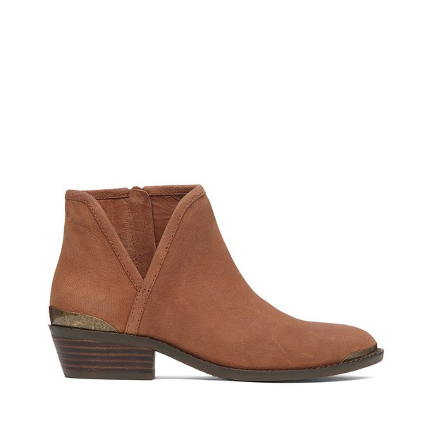 Lucky Brand Keezan Ankle Bootie - Whiskey Brown-6