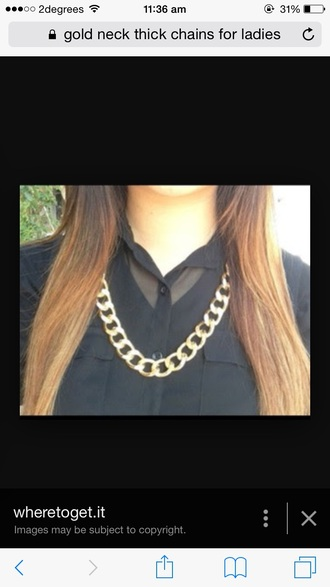 jewels gold chain thick necklace