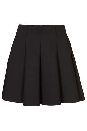 Black Scuba Flippy Skirt - Skirts  - Clothing  - Topshop