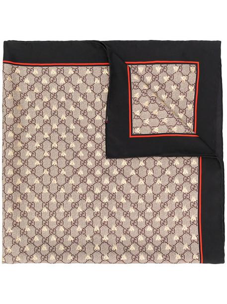 gucci women scarf nude silk