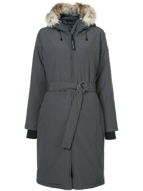 canada goose parka women cotton grey coat