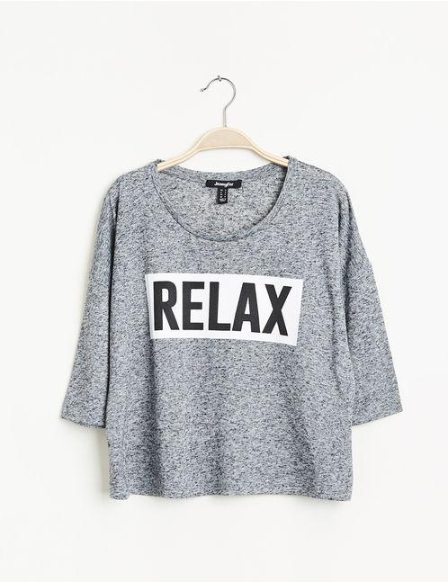 Shirt relax gris chiné