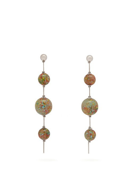 Burberry - Marbled Drop Earrings - Womens - Multi