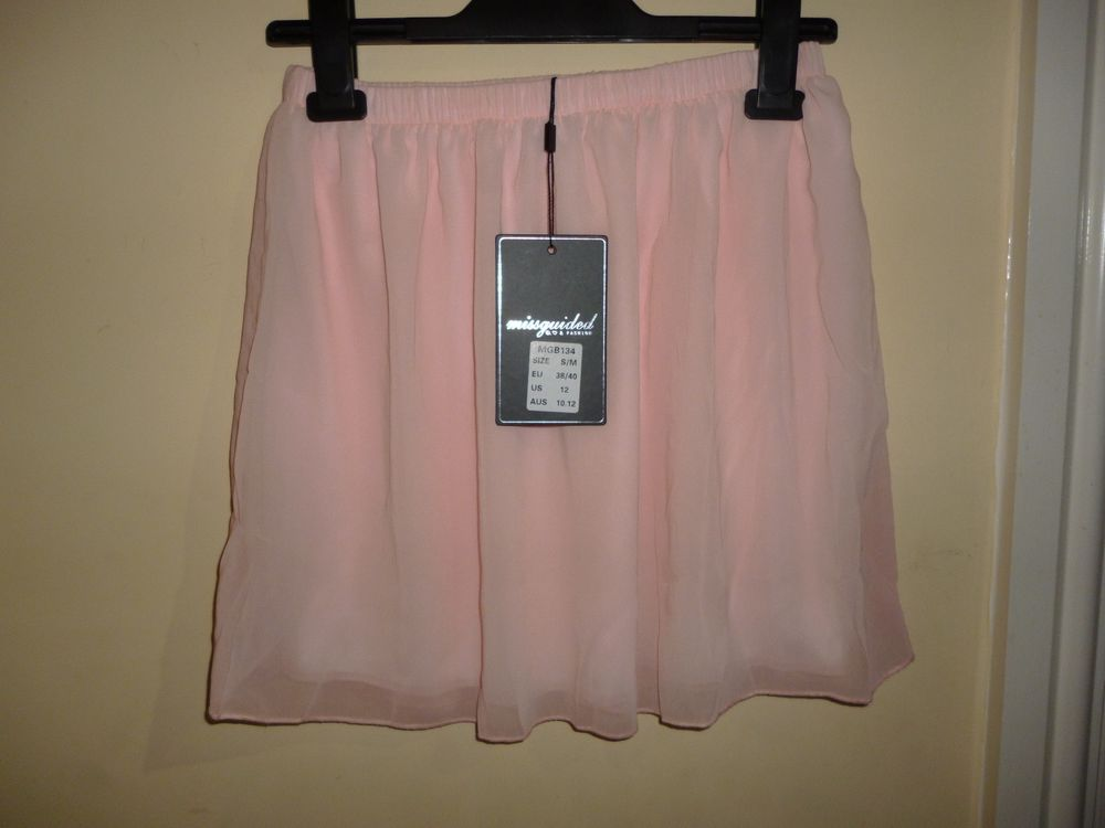 Missguided party pink skater skirt size 8 10 | eBay