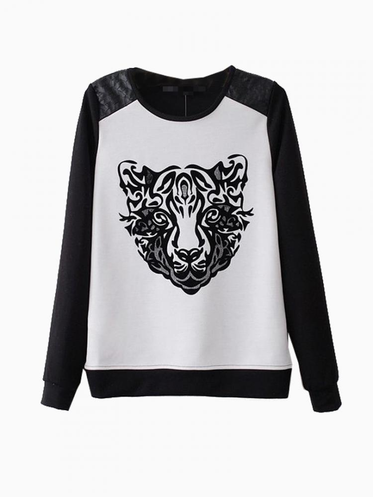 New Look Sweatershirt With Leopard Print | Choies