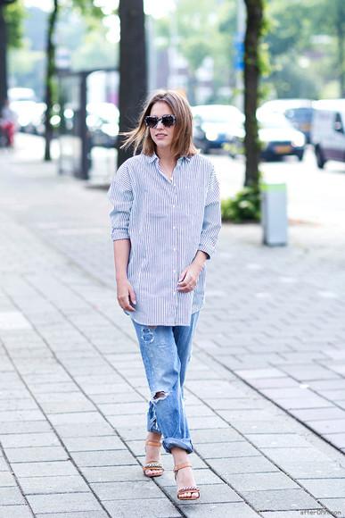 after drk shirt shoes jeans sunglasses