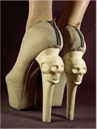 shoes skull high heels