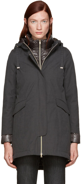 coat cotton grey
