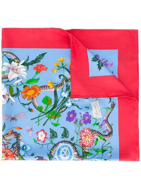 a6ac95d9deb gucci Gucci Floral Snake print scarf