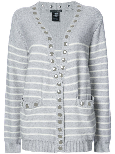 Thomas Wylde cardigan cardigan women layered cotton grey sweater