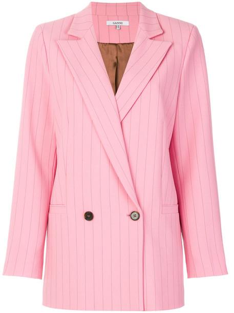 Ganni blazer women spandex purple pink jacket