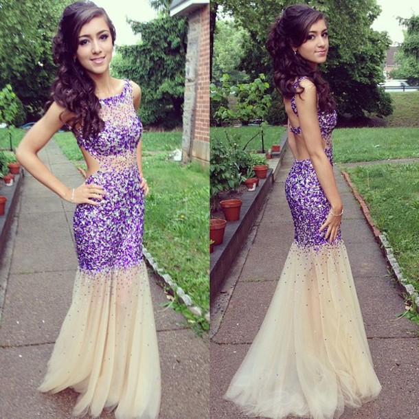 dress prom dress prom dresses 2014 purple dress