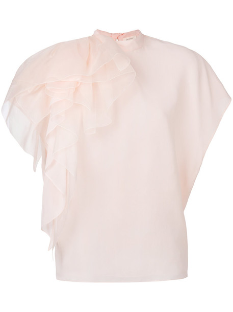 DELPOZO blouse women silk purple pink top