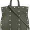 Moschino - studded tote - women - leather - one size, green, leather