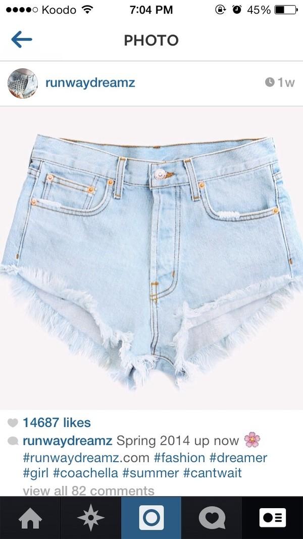 shorts denim light blue cute