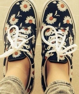 vans slip on shoes daisy