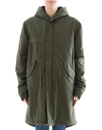 parka cotton green coat