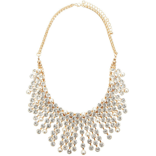 Forever new maia pearl & diamante spike necklace