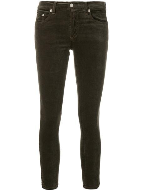 Rag & Bone /Jean jeans cropped jeans cropped women spandex cotton green