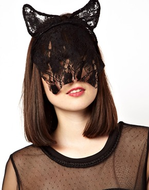 Asos cat ear lace headband with veil at asos