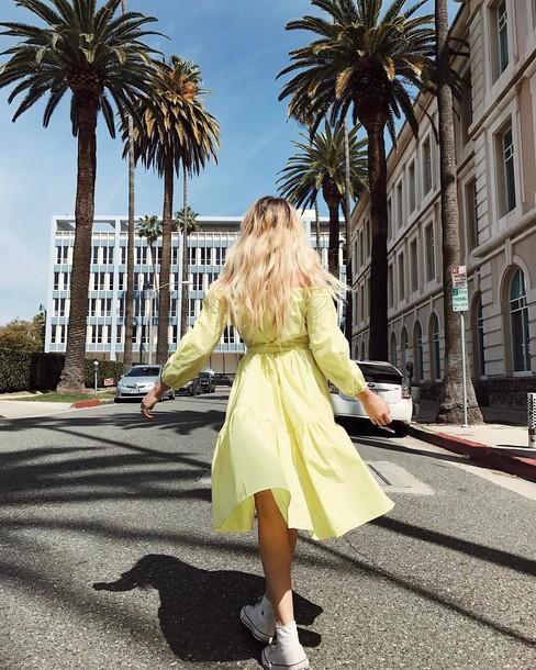 Neon yellow dress tumblr color
