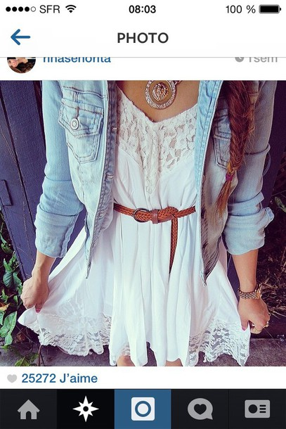 dress white dress jacket fashion summer dress style