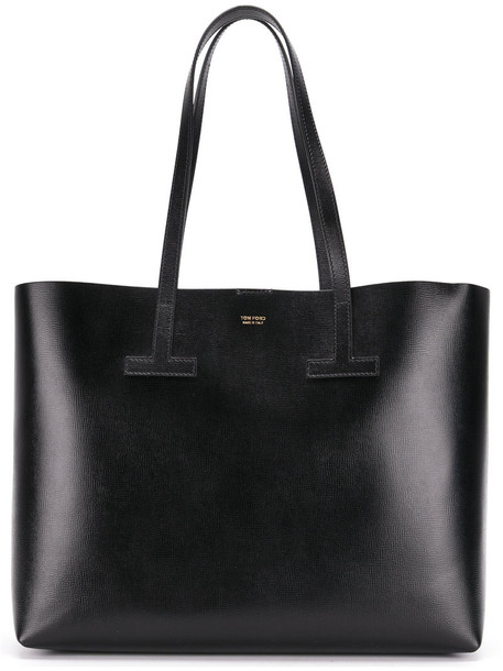 Tom Ford - shopper tote bag - women - Calf Leather/Polyamide/Polyurethane - One Size, Black, Calf Leather/Polyamide/Polyurethane
