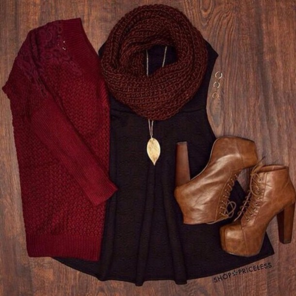 cardigan dress jewels scarf shoes