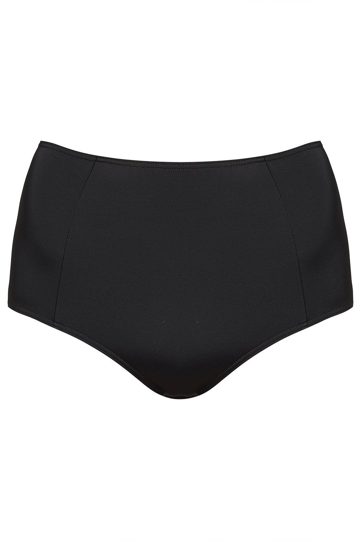 Black High-Waisted Bikini Pant - Topshop