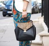 pants,foulard print