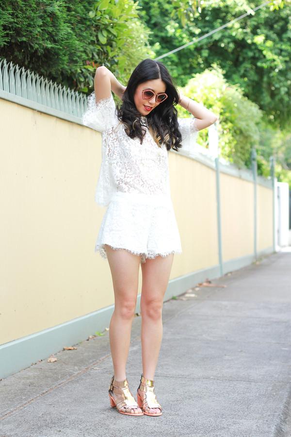 k is for kani t-shirt shorts sunglasses shoes jewels