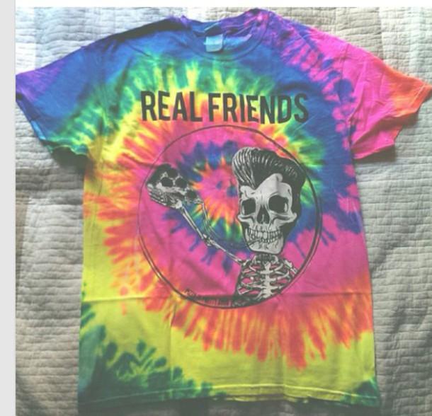 t-shirt tie dye shirt friends