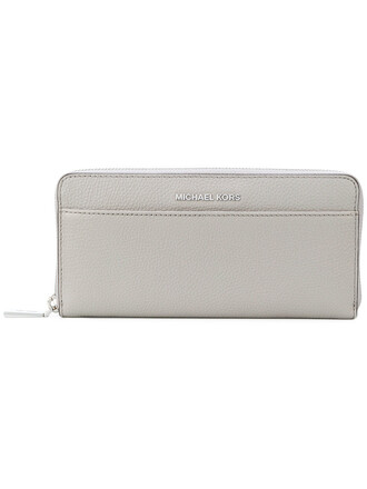 zip women purse leather grey bag