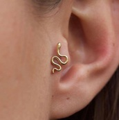 jewels,earrings,jewelry,snake,piercing,gold