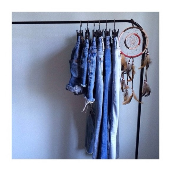 holes clothes jeans denim shorts high waisted short dream catcher on the racks