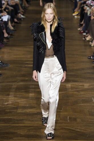 jacket pants runway paris fashion week 2016 model lanvin