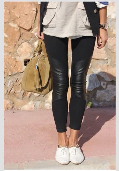 leggings black leggings leather leggings