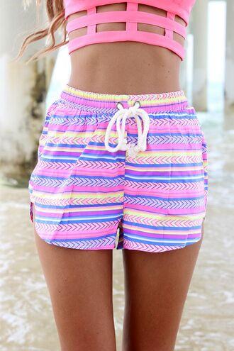 shorts high waisted shorts aztec highwaisted ustrendy shorts ustrendy